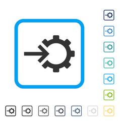 cog integration framed icon vector image