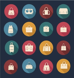 collection of Women and men bags- vector image