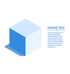 cube icon isometric template for web design vector image
