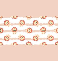 cute lion patterns vector image