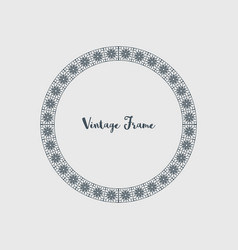 decorative circle frame vector image