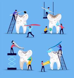 Dental problems treatment concept vector