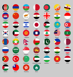 different countries flags set vector image