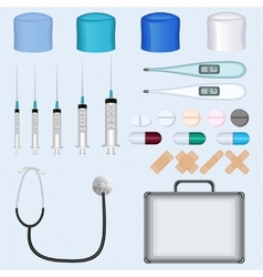 Doctor Medical Accessories Set vector
