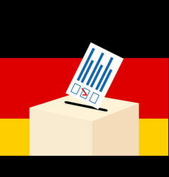 Election in germany concept vector