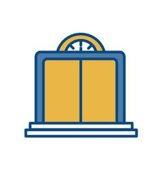 Elevator door icon vector