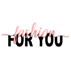 fashion for you t-shirt print with pink ribbon vector image