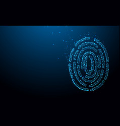 finger print form lines triangles and particle vector image
