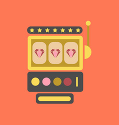 Flat icon on background slot machine vector
