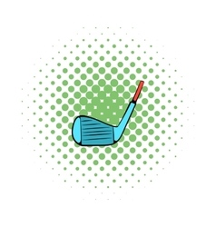 Golf club icon comics style vector