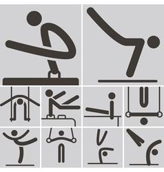 Gymnastics Artistic icons vector