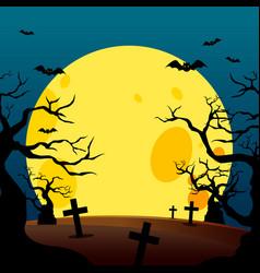 halloween poster design background vector image