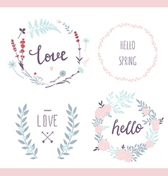 Hand drawn love collection vector image