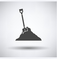 Icon of construction shovel and sand vector
