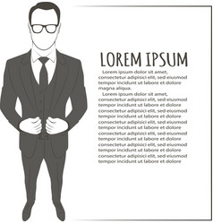 Image of standing businessman vector