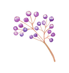 isolated purple plant wedding decoration vector image