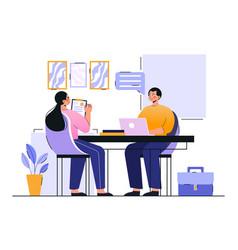 Job interview employment process choosing vector