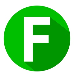 Letter F in green circle vector image