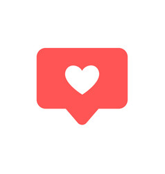 like and heart icon live stream video chat likes vector image