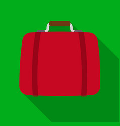 Luggage icon in flat style isolated on white vector