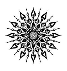 Mandala transparent background vector