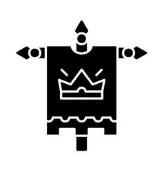 medieval king flag glyph icon vector image