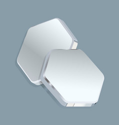 metal plates in form hexagons turned vector image