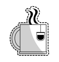 Mug with beverage icon image vector