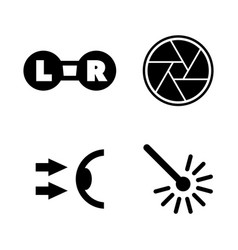 Oculist optometry simple related icons vector