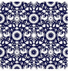 otomi style seamless pattern vector image