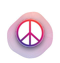 peace sign poster modern design vector image