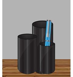 Pencil holder vector image