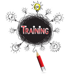 pencil idea isolate write red training business vector image