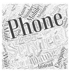 Phone dating services Word Cloud Concept vector
