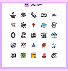 Pictogram set 25 simple filled line flat vector