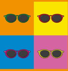 Pop art glasses design vector