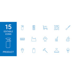 Product icons vector