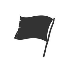 ragged flag vector image