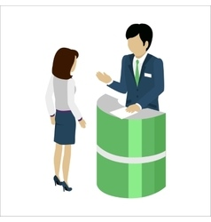 Reception Service Concept vector