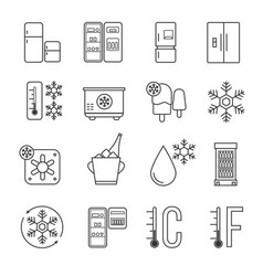 refrigerator home freezer and industrial fridge vector image vector image
