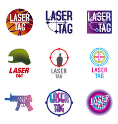 Set of logos for laser tag vector