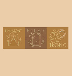 Sign line relax tropic nature gate arch vector