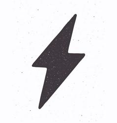 Silhouette electric lightning bolt vector