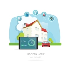 Smart home modern future house vector