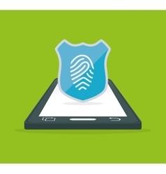 Smartphone fingerprint password internet security vector