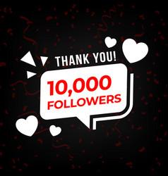 Social media follower thank you 10k vector