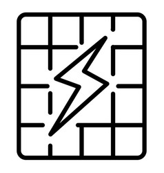 solar panel energy icon outline style vector image