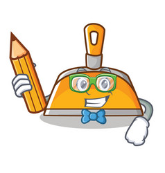 Student dustpan character cartoon style vector