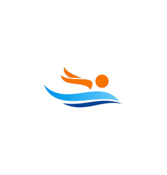 Swim sport icon logo vector