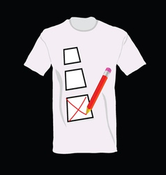 T-shirt with ticking vector